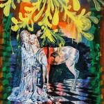 Kristina Girke, A Lifelong Dream, 2018, Öl und Lack auf Leinwand, 90 x 80 cm