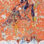 Kristina Girke, Coconut Memory, 2018, Öl und Lack auf Leinwand, 90 x 80 cm