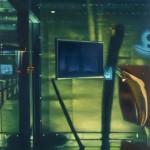 Bildschirm spuckt Banane, 2014, 190 x 140 cm