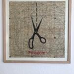 Freedom, Serie Herzstück 2016-18, Zeichnung auf Papier, 60 x 60 cm