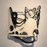 Gedankensplitter 4, 2019, Filz, 50 x 50 x 10 cm