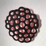HIDDEN MIND I, 2016, Stahl, Lack, 250 x 250 x 3 mm