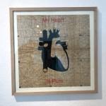 My Heart Is Pure, Serie Herzstück 2016-18, Zeichnung auf Papier, 60 x 60 cm
