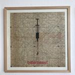 bittersweet, Serie Herzstück 2016-18, Zeichnung auf Papier, 60 x 60 cm