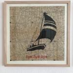 bye, bye, bye, Serie Herzstück 2016-18, Zeichnung auf Papier, 60 x 60 cm