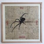 dance with the devil, Serie Herzstück 2016-18, Zeichnung auf Papier, 60 x 60 cm