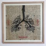 expand your lungs, Serie Herzstück 2016-18, Zeichnung auf Papier, 60 x 60 cm