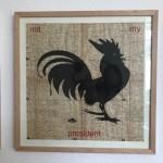 not my president (cock), Serie Herzstück 2016-18, Zeichnung auf Papier, 60 x 60 cm