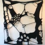 window of the mind III, 2018, Filz, 160 x 130 cm