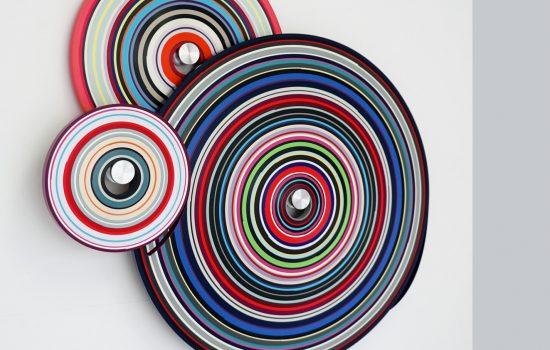 3 x PVC-Bänder 3 x Aluwelle 130 x 130 x 8 cm